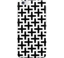 Geometric Swastika Pattern 2 - Black iPhone Case/Skin