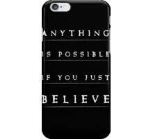 Anything is possible typography quote iPhone Case/Skin