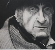 the old man charcoal drawing  by Kenneth Hildreth