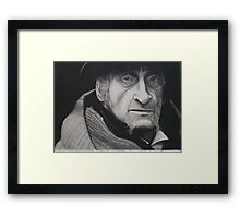 the old man charcoal drawing  Framed Print