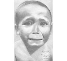 pouting child pencil drawing  Photographic Print