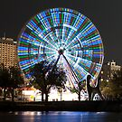 0991 Melbourne at night - The Wheel by DavidsArt
