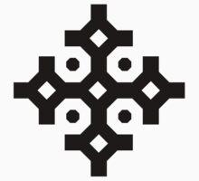 Black Snowflake One Piece - Short Sleeve