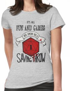 Its All Fun And Games Womens Fitted T-Shirt