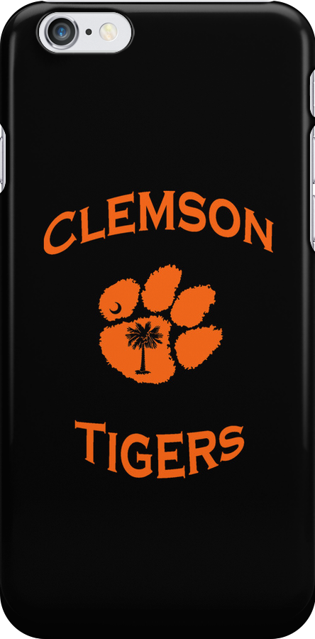 Clemson Tiger iPhone Cover by Cassandra Scarborough