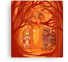 Forest Family Canvas Print