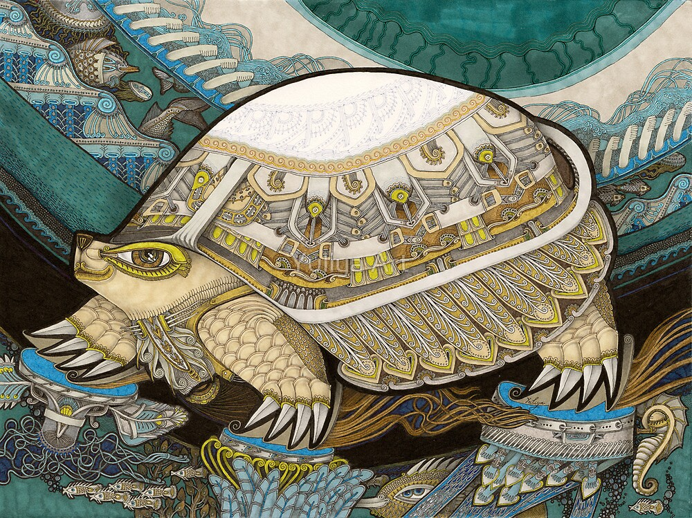 Turtle by Yuliya Art