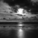 Evening on the beach 2 (Mono) by WatscapePhoto