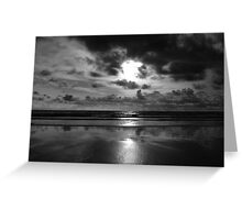 Evening on the beach 2 (Mono) Greeting Card