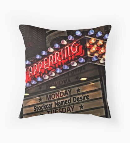 Now Appearing in Uptown  Throw Pillow