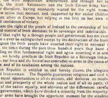 1916 Irish Proclamation Sticker