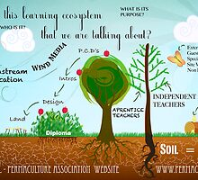 This is a design for an ecosystem based on Permaculture by James Skevington