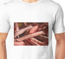 Dried Rolled Plum Leaves - Macro Unisex T-Shirt