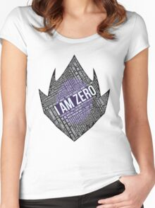 Code GEASS Typography Women's Fitted Scoop T-Shirt
