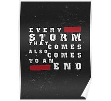 Storm inspirational typography quote Poster
