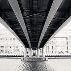 Bridge at Canary Wharf by Sue Martin