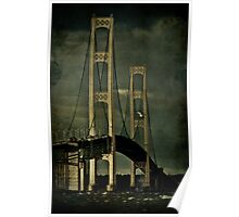 Fall Storms at the Mackinac Bridge Poster