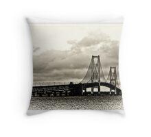 Mackinac Bridge No 0417 card Throw Pillow