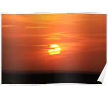 Highway Sunset Poster