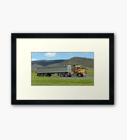Road Semi Hobart Tasmania Framed Print
