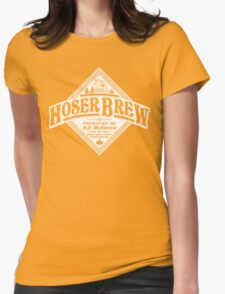 HOSER BREW - WHITE LABEL Womens Fitted T-Shirt