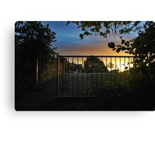 Just Down the Path from our House Canvas Print