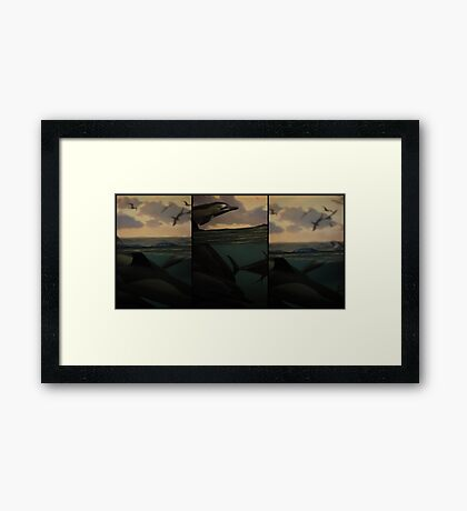 Natural History 001 Triptych Framed Print