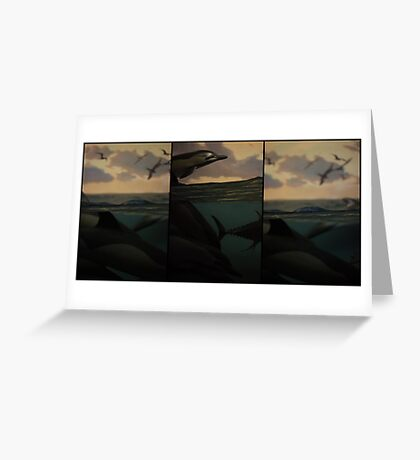 Natural History 001 Triptych Greeting Card