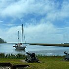 Sailboat and Cannon; Fort Frederica by BenSellars