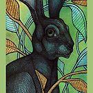 Hidden Hare iPhone Case by Lynnette Shelley