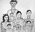 Family Sketch 02 by C Rodriguez