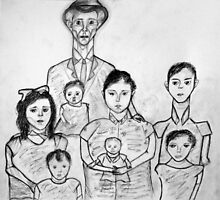 Family Sketch 02 by Christina Rodriguez