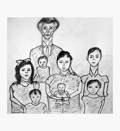 Family Sketch 02 Photographic Print