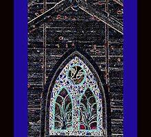 Church Window with Digital Effects iPhone Case by Rosalie Scanlon