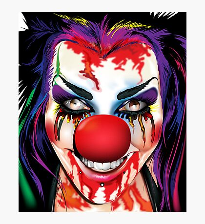 Crazy Clown Photographic Print