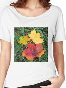 Autumn leaves in wonderful colours Women's Relaxed Fit T-Shirt