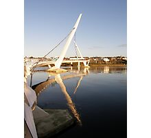 Peace Bridge , Over The River Foyle, Derry,Ireland Photographic Print