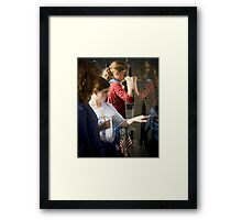 Touching the Wall Framed Print