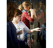 Touching the Wall Photographic Print
