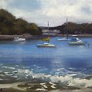 Boats at Jibbon beach, Bundeena by Tash  Luedi Art
