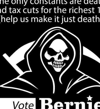 Bernie Halloween Sticker Death and Taxes Sticker