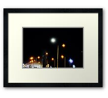 night time city Framed Print