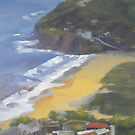 View to Stanwell Park Beach by Tash  Luedi Art