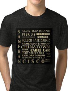 San Francisco Famous Landmarks Tri-blend T-Shirt