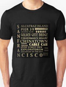 San Francisco Famous Landmarks Unisex T-Shirt