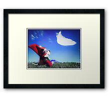 rat looking into sky Framed Print