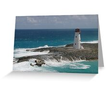 Lighthouse on the approach to the harbour at Nassau Greeting Card