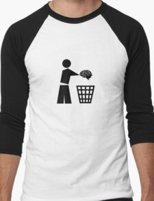 BIN YOUR BRAINS Men's Baseball ¾ T-Shirt