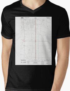 USGS Topo Map Oregon Tangent 20110831 TM Mens V-Neck T-Shirt