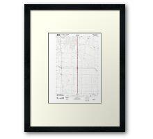 USGS Topo Map Oregon Tangent 20110831 TM Framed Print